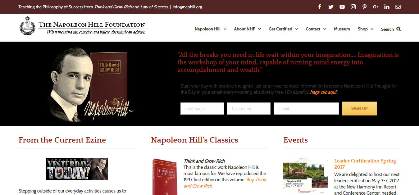 Napoleon Hill Website